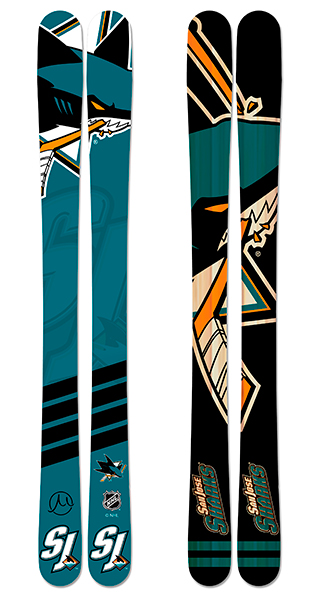 Nhl san jose sharks skis small